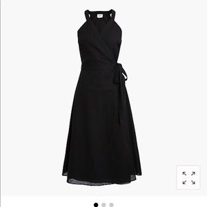J. Crew Black Linen Wrap Dress Size Small